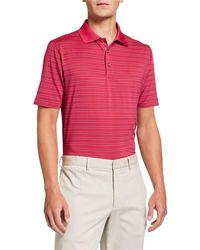 Bobby Jones Men's Xh2o Rockland Stripe Short-sleeve Polo Shirt - Pink