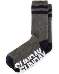 Sockart - Sunday Funday Typographic Socks - Lyst