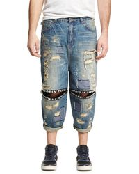 Mostly Heard Rarely Seen - Destroyed Ticker Feed Jeans - Lyst