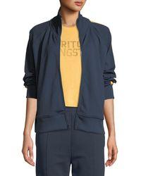 Spiritual Gangster Side-stripe Zip-front Track Jacket - Blue