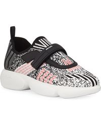 Prada Cloudbust Metallic Stretch-knit Sneakers - Multicolor