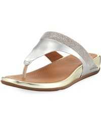 Fitflop - Banda Micro-crystal Thong Sandals - Lyst