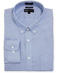 Neiman Marcus - Trim-fit Non-iron Textured Dress Shirt - Lyst