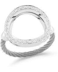 Alor - Open Diamond Pavé Circle Ring - Lyst