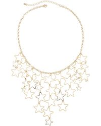 Kenneth Jay Lane Open-star Bib Necklace - Metallic