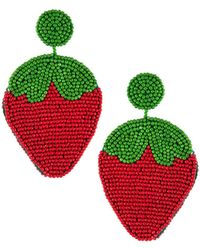 Kenneth Jay Lane - Strawberry Drop Earrings - Lyst