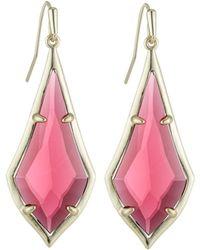 Kendra Scott Olivia Drop Earrings Berry - Pink