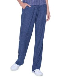 Akris Shimmer Knit Sequin Sweatpants - Blue