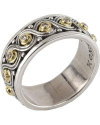 Konstantino - Asteri Ornate Scrollwork Band Ring W/ White Diamonds - Lyst