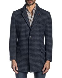 Jared Lang - Men's Houndstooth Trench Coat - Lyst