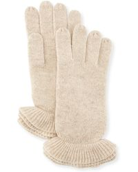 Todd And Duncan - Triple Ruffle Trim Gloves - Lyst