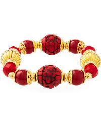 Jose & Maria Barrera Cinnabar Stretch Bracelet - Red