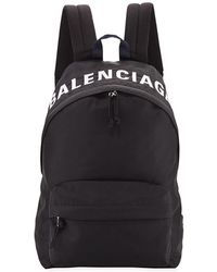 Balenciaga - Wheel Textured Nylon Backpack - Lyst
