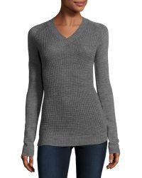 Pilyq - V-neck Textured Sweater - Lyst