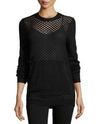 Pilyq - Long-sleeve Fishnet Sweater - Lyst
