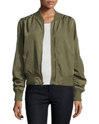 On The Road - Charmeause Bomber Jacket - Lyst