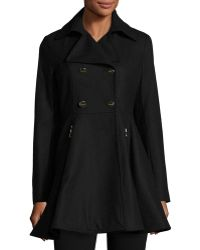 Laundry by Shelli Segal - Fit-and-flare Wool-blend Coat - Lyst