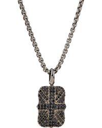 Stephen Webster - Men's Pave Black Sapphire Union Jack Dog Tag Necklace - Lyst