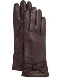 Ivanka Trump - Lamb Leather Bow Gloves - Lyst