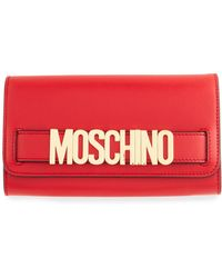 Moschino - Calf Leather Shopping Wallet - Lyst