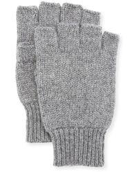 Neiman Marcus - Cashmere Fingerless Gloves - Lyst