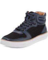 English Laundry - Preston Leather Mesh High-top Sneaker - Lyst