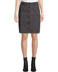 Tomas Maier - Urban Grid Button-front Skirt - Lyst