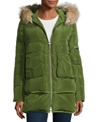 Annabelle New York - Barrow Fur-trim Linear-quilted Coat - Lyst