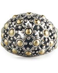 John Hardy - Jaisalmer Silver & 18k Gold Dome Ring - Lyst