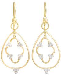 Jude Frances - 18k Gold Teardrop & Clover Diamond Earring Charms - Lyst