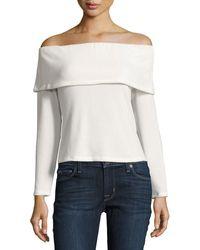 NYTT - Off-the-shoulder Long-sleeve Sweater - Lyst