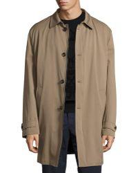 Luciano Barbera - Zip-front Tech Overcoat - Lyst