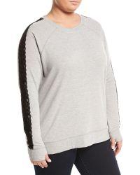Nanette Nanette Lepore Back-lace-up Sweatshirt - Gray