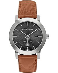 Burberry - 42mm Stainless Steel & Leather City Watch - Lyst