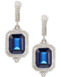 Judith Ripka - Estate Emerald-cut Cz Drop Earrings - Lyst