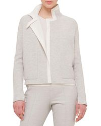 Akris Reversible Contrast-trimmed Cashmere Cardigan - Gray