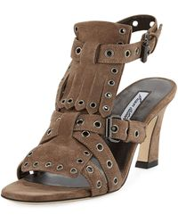 Brian Atwood - Luisa Fringed Suede Sandals - Lyst