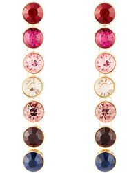 Lydell NYC - Linear Crystal Drop Earrings - Lyst