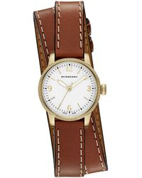 Burberry - 30mm Utilitarian Double-wrap Watch - Lyst
