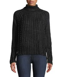 Goldie London - Stardust Dome-studded Turtleneck - Lyst