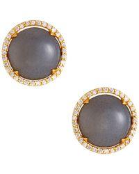 Gurhan - 22k Elements Hue Moonstone Earrings W/ Diamonds - Lyst