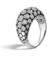 John Hardy - Dot Pave Diamond Dome Ring Size 7 - Lyst