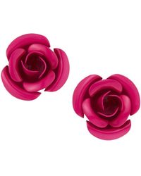 Romeo and Juliet Couture - Metal Rose Earrings - Lyst