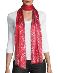 Max Studio - Paisley-print Oblong Silk Scarf - Lyst