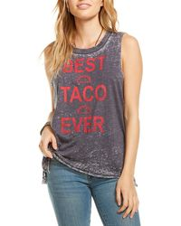Chaser - Best Taco Ever Graphic Distressed Tee - Lyst