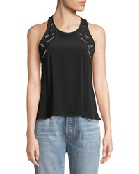 Astr - Alaine Lace-up Side Tank - Lyst