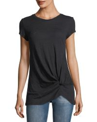 Metric Knits - Front-twist Short-sleeve Tee - Lyst