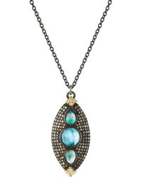 Armenta - Old World Marquis Peruvian Opal Triplet Necklace With Diamonds - Lyst