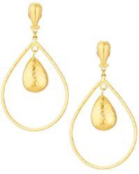 Gurhan - Pear Geo Earring In 24k Gold - Lyst