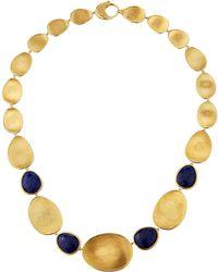 Marco Bicego - Lunaria Medium 18k Gold & Lapis Collar Necklace - Lyst